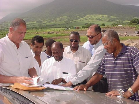 St. Kitts Cabinet Ministers tour Beaumont Park Race Track with Arthur Sharpe