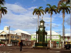 St Kitts heritage sites photos - The Berkley Memorial in the Circus in downtown Basseterre St Kitts