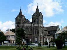 St Kitts heritage sites photos - The Catholic Church - Immaculate Conception Co-Cathedral on East Independence Square Street in downtown Basseterre St Kitts