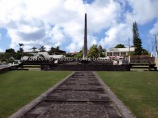 St Kitts heritage sites photos - The Cenotaph located at Fortlands in Basseterre St Kitts is a memorial to those from St. Kitts, Nevis and Anguilla who gave their lives in the First and Second World Wars.