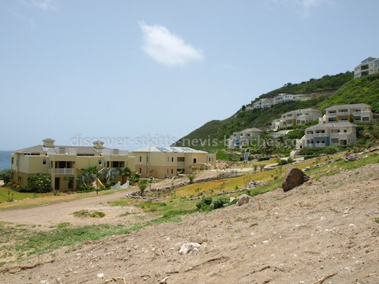 Beachfront and hillside condominiums and villas in Frigate Bay, St Kitts