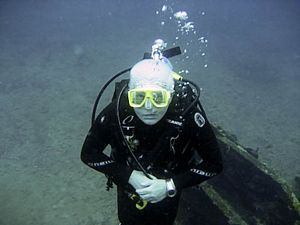 St Kitts scuba diving photo of Terry Crookes PADI ICD Staff Instructor