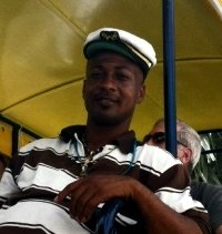 St Kitts tours and Island Safaris with Captain Sunshine Tours. St Kitts photo of Captain Sunshine tour guide Devin.
