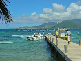 Jetty at Turtle Beach in St. Kitts