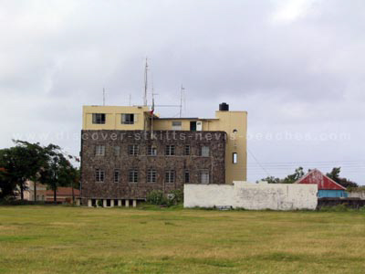 Old southern section at Warner Park in St. Kitts with the Basseterre Police Station in the background. This area now hosts the southern cricket stands.