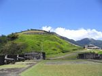 View of the Western Place of Arms from the Prince of Wales Bastion at Brimstone Hill Fortress National Park, St. Kitts