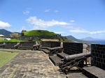 Cannons in the Prince of Wales Bastion at Brimstone Hill Fortress National Park, St. Kitts