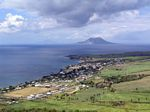 View of Sandy Point, St Eustatius (Statia) and Saba from Brimstone Hill Fortress National Park, St. Kitts