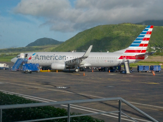 New American Airlines aircraft at RLB International Airport, St. Kitts
