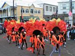 Photo of children enjoying themselves in their very own 2004 - 2005 Children's Carnival Parade in St. Kitts